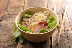 Rice noodles soup Royalty Free Stock Photo