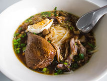Rice noodles with stewed duck Stock Photography