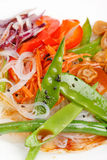 Rice noodles with vegetables Royalty Free Stock Photo