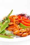 Rice noodles with vegetables Royalty Free Stock Image