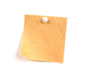 Rice note paper. Sticker isolated on white royalty free stock photo