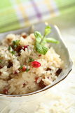 Rice with nuts and raisins Royalty Free Stock Photography