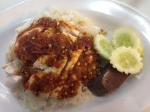 Rice och höna Fotografering för Bildbyråer