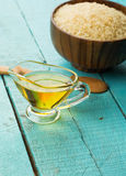 Rice oil Stock Photography