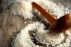 Rice oriental elaboration culinary ingredient Royalty Free Stock Photos