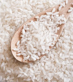 Rice over the spoon Stock Image