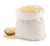 Rice in paper bag Stock Photography