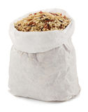Rice in paper bag Royalty Free Stock Image