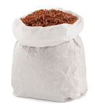Rice in paper bag Royalty Free Stock Images