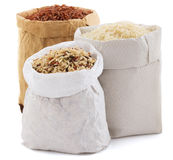 Rice in paper bag Stock Image