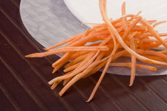 Rice Paper and Carrots Royalty Free Stock Images