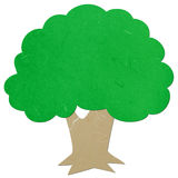 Rice paper cut big tree Stock Photo