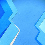 Rice paper cut  blue linear abstact Royalty Free Stock Photos