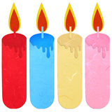 Rice paper cut burning candle Stock Image