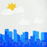 Rice paper cut  cityscape Stock Images