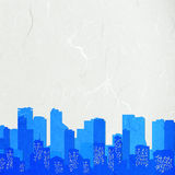 Rice paper cut  cityscape Stock Photo