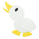 Rice paper cut cute cartoon litte duck Stock Photo
