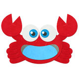 Rice paper cut cute red crab Stock Photo