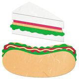 Rice paper cut hotdog and sandwich Royalty Free Stock Photos