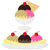 Rice paper cut ice cream Royalty Free Stock Photo