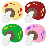 Rice paper cut mushrooms Stock Photo