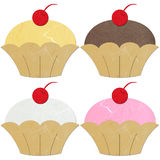 Rice paper cut Rice paper cut cup cake Stock Image