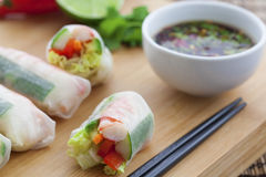 Rice paper rolls Royalty Free Stock Photography