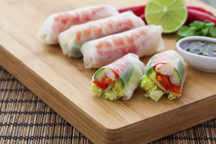 Rice paper rolls Stock Photography
