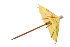 Rice paper umbrella decoration. For cocktail glass, isolated Stock Photography