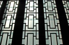Rice Paper Walls. Light shining through rice paper walls, Shanghai, China stock photography