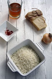 Rice and parmesan Royalty Free Stock Images
