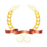 Rice pasta wheat factory logo template