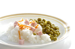 Rice with pea Royalty Free Stock Photo
