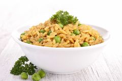 Rice and pea Stock Photos
