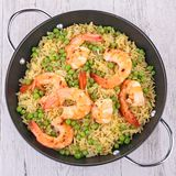Rice,pea and shrimps Royalty Free Stock Photography