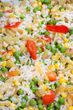 Rice with peas and sweet corn Royalty Free Stock Photography