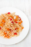 Rice with pepper Royalty Free Stock Photo