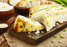 Rice pie with cottage cheese Royalty Free Stock Photography