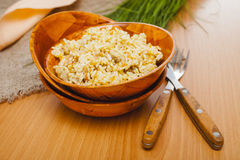 Rice pilaf in a bowl Royalty Free Stock Photos