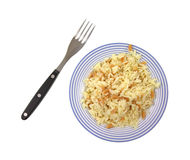 Rice pilaf with fork Stock Images