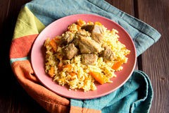 Rice pilaf with meat Royalty Free Stock Photo