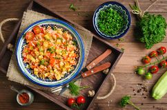Rice pilaf with vegetables Stock Image