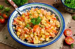 Rice pilaf with vegetables Royalty Free Stock Image