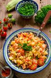 Rice pilaf with vegetables Stock Photography