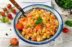 Rice pilaf with vegetables Royalty Free Stock Photos