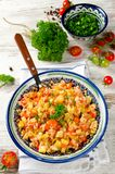 Rice pilaf with vegetables Royalty Free Stock Photography
