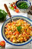 Rice pilaf with vegetables Royalty Free Stock Photo