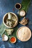 Rice piramidal dumplings Royalty Free Stock Images