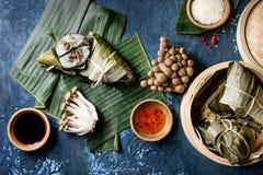Rice piramidal dumplings Stock Image
