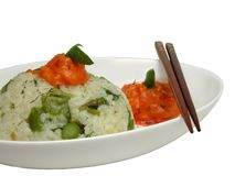 Rice on a plate Royalty Free Stock Images